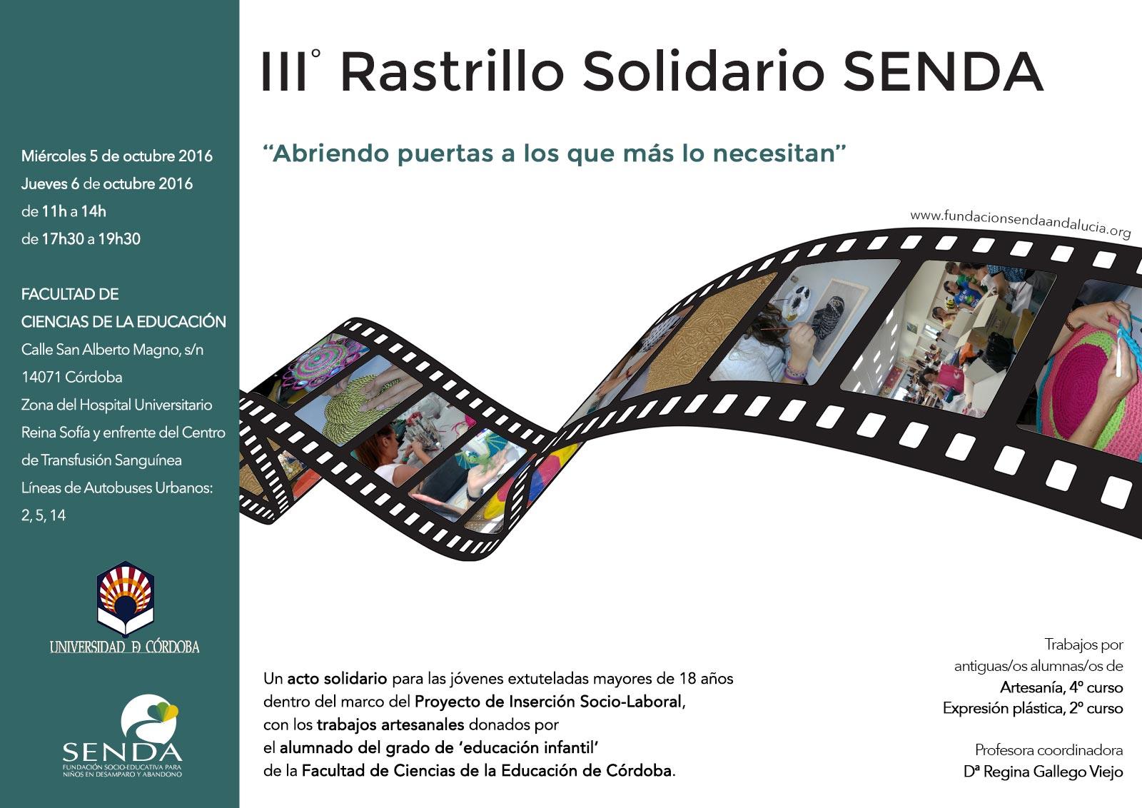 Tercer Rastrillo Solidario 2016 Fundación Senda