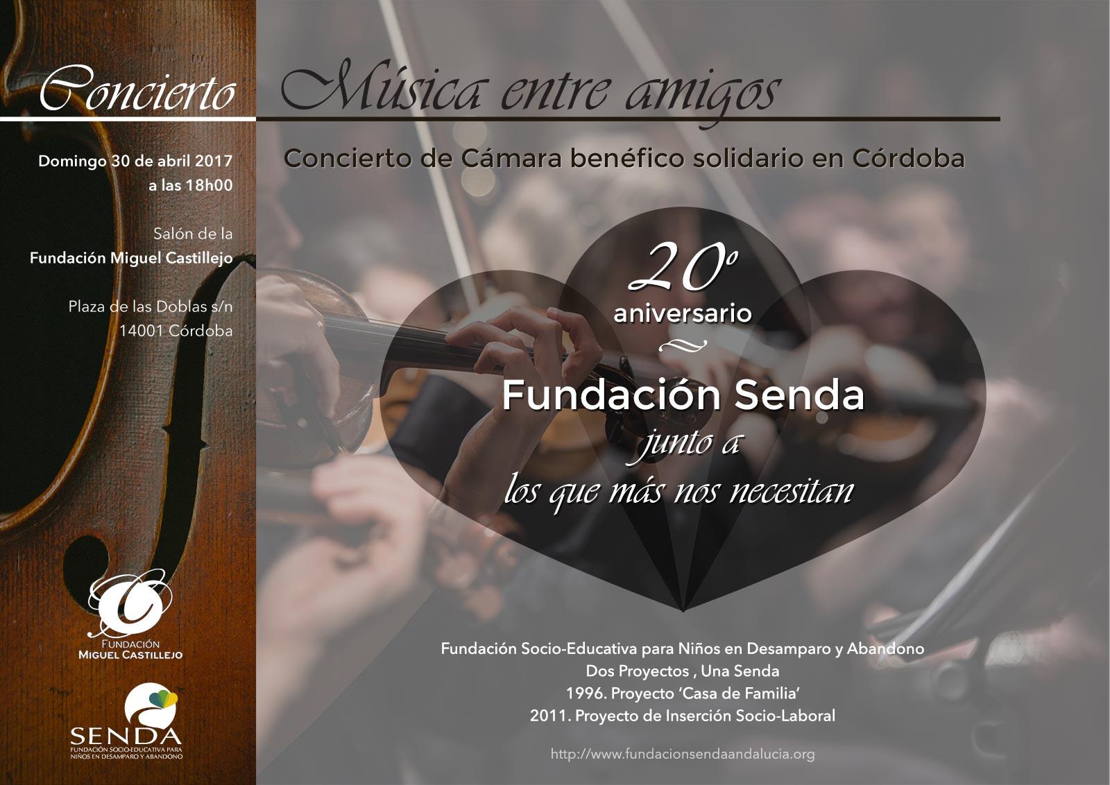 Música entre amigos Concierto de cámara Miguel Castillejo Fundacion Senda
