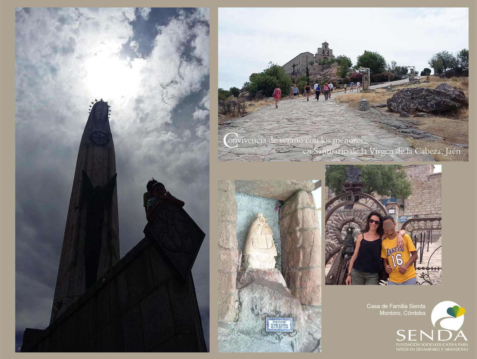 Convivencia verano 2016 Casa de Familia Senda Santuario de la Virgen de la Cabeza en el Cerro del Cabezo de Andújar Jaen