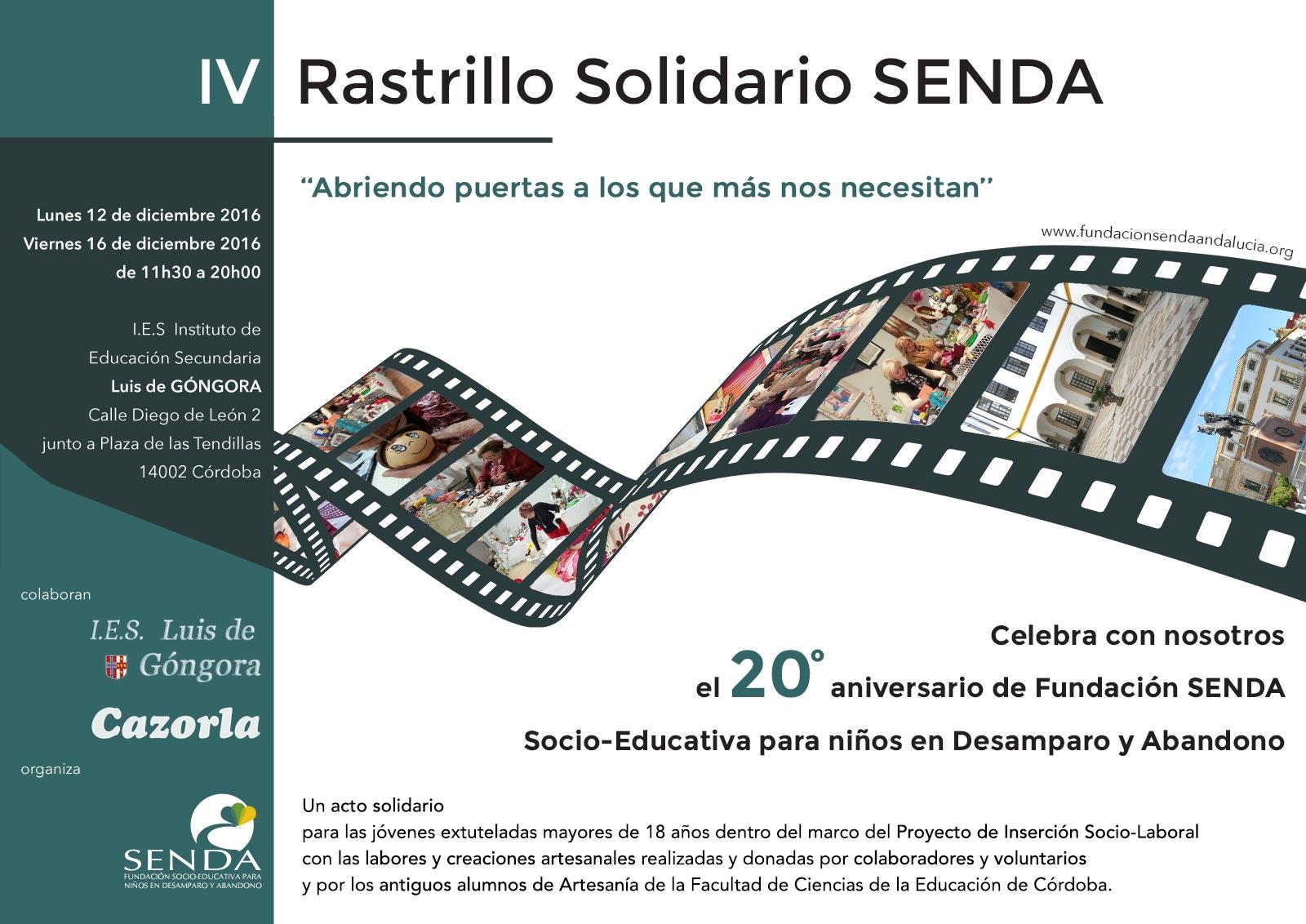 Rastrillo Solidario cuarta edición Fundación Senda Córdoba