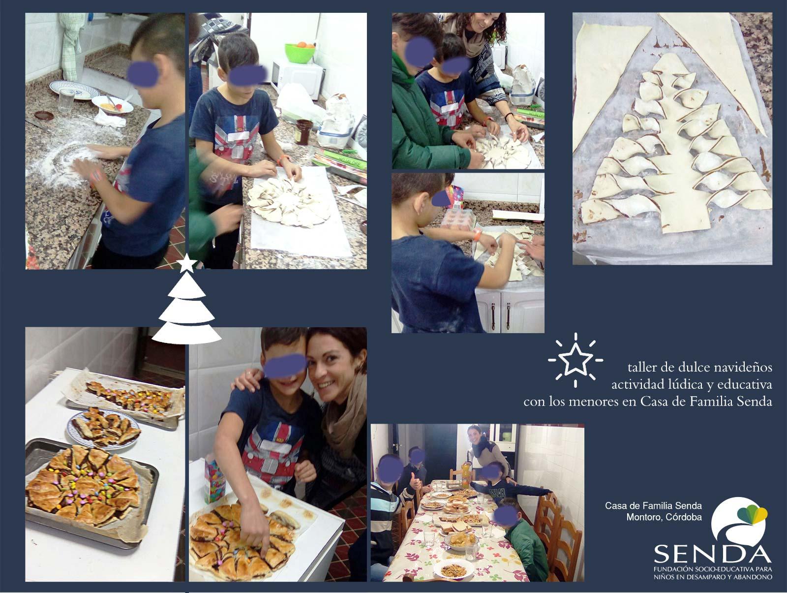 talleres educativos dulces navideños Casa de Familia Senda Montoro
