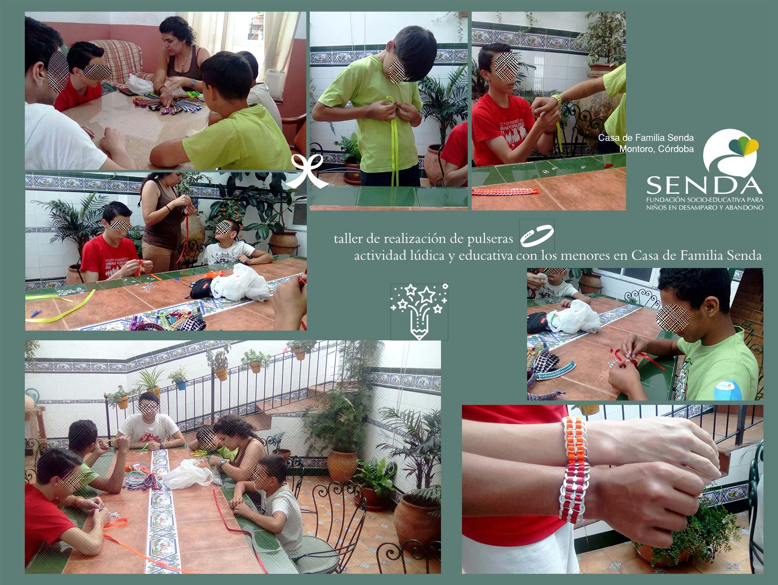 talleres educativos pulseras Casa de Familia Senda Montoro