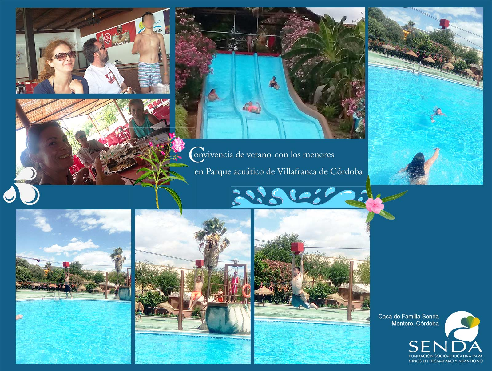 Convivencia verano 2016 Casa de Familia Senda Parque acuatico Villafranca Córdoba