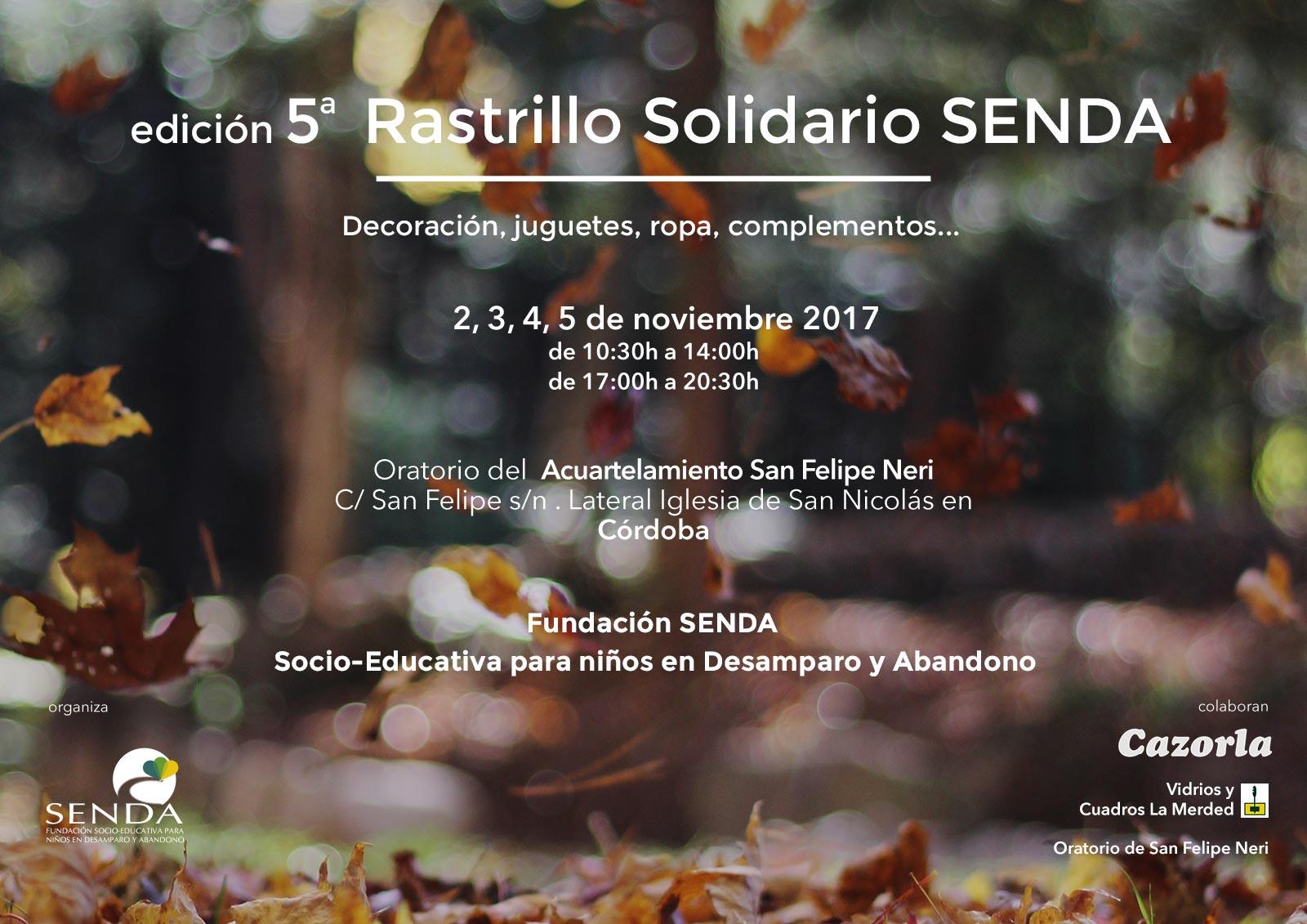 quinto rastrillo solidario Fundación Senda Córdoba