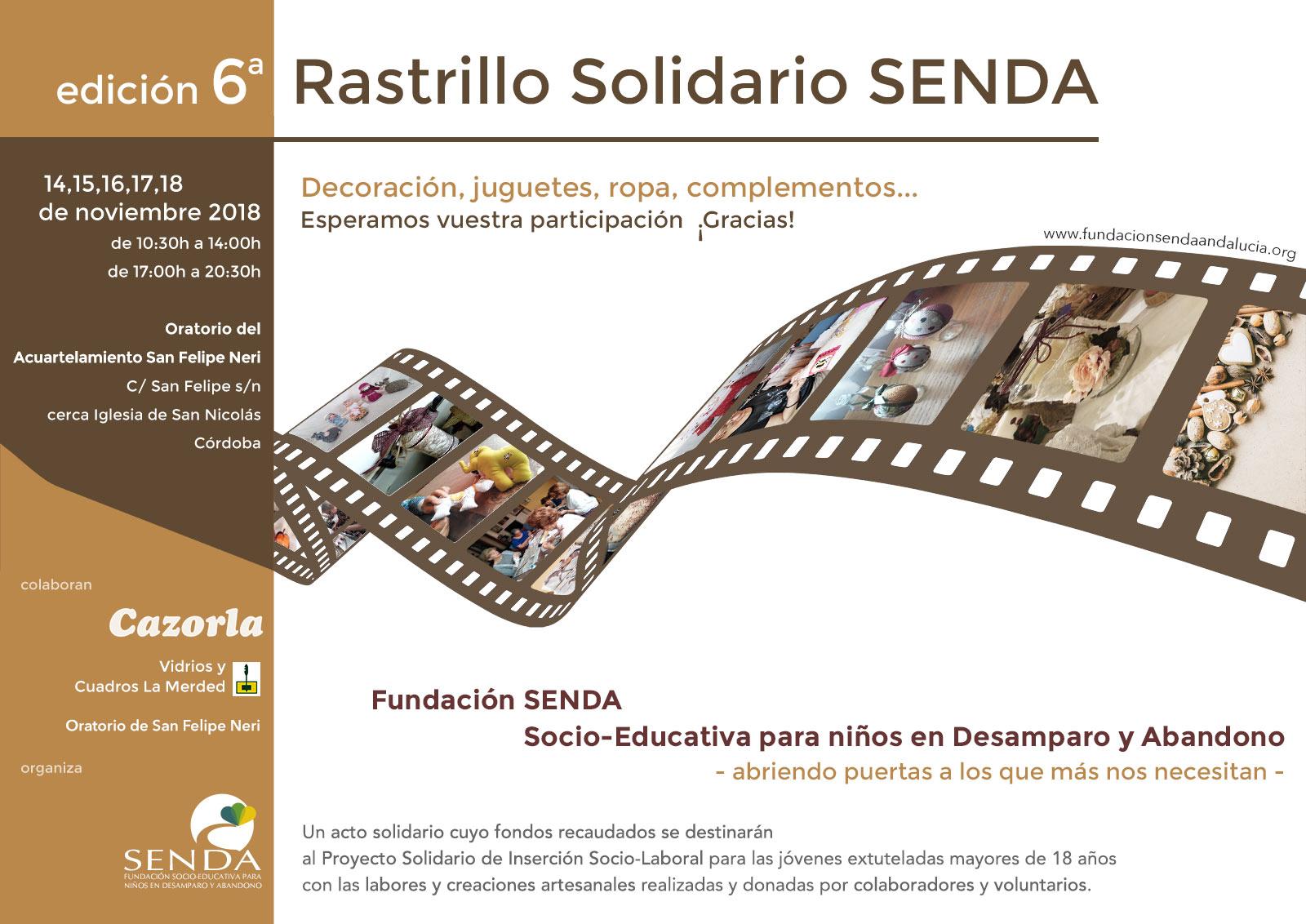 sin ánimo de lucro sexto rastrillo solidario Fundación Senda Andalucia Córdoba Montoro